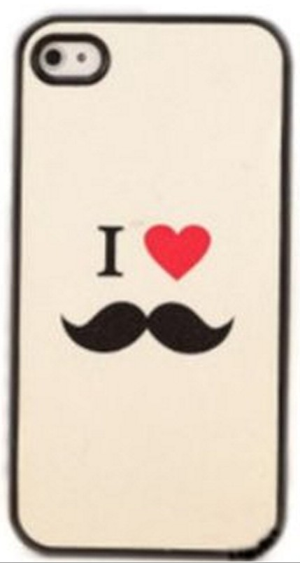 I Love Mustache Case Cover for Iphone 4 4s