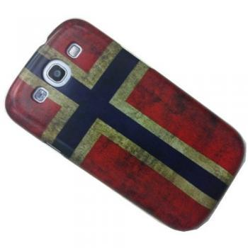 Antique Art Design Norway Flag Norway Case Cover for Samsung Galaxys III S3 I9300