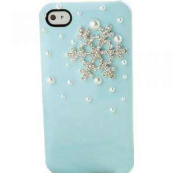 Snow Flower Snowflake Manmade Pearl Case Cover for Iphone 4 4s