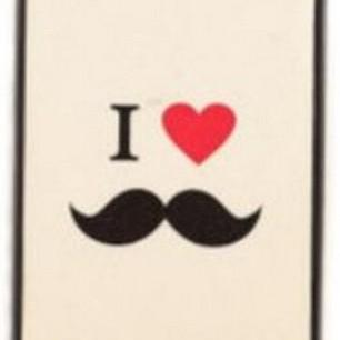 I Love Beard Mustache Case Cover for Iphone 4 4s