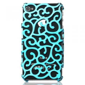 Light Blue Color Hollow Case Cover for Iphone 4 4s